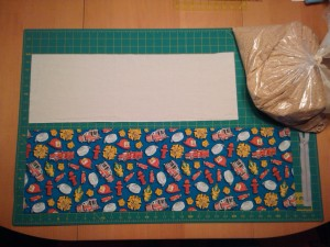Materials needed to make a toddler buckwheat hull pillow, with pillowcase.