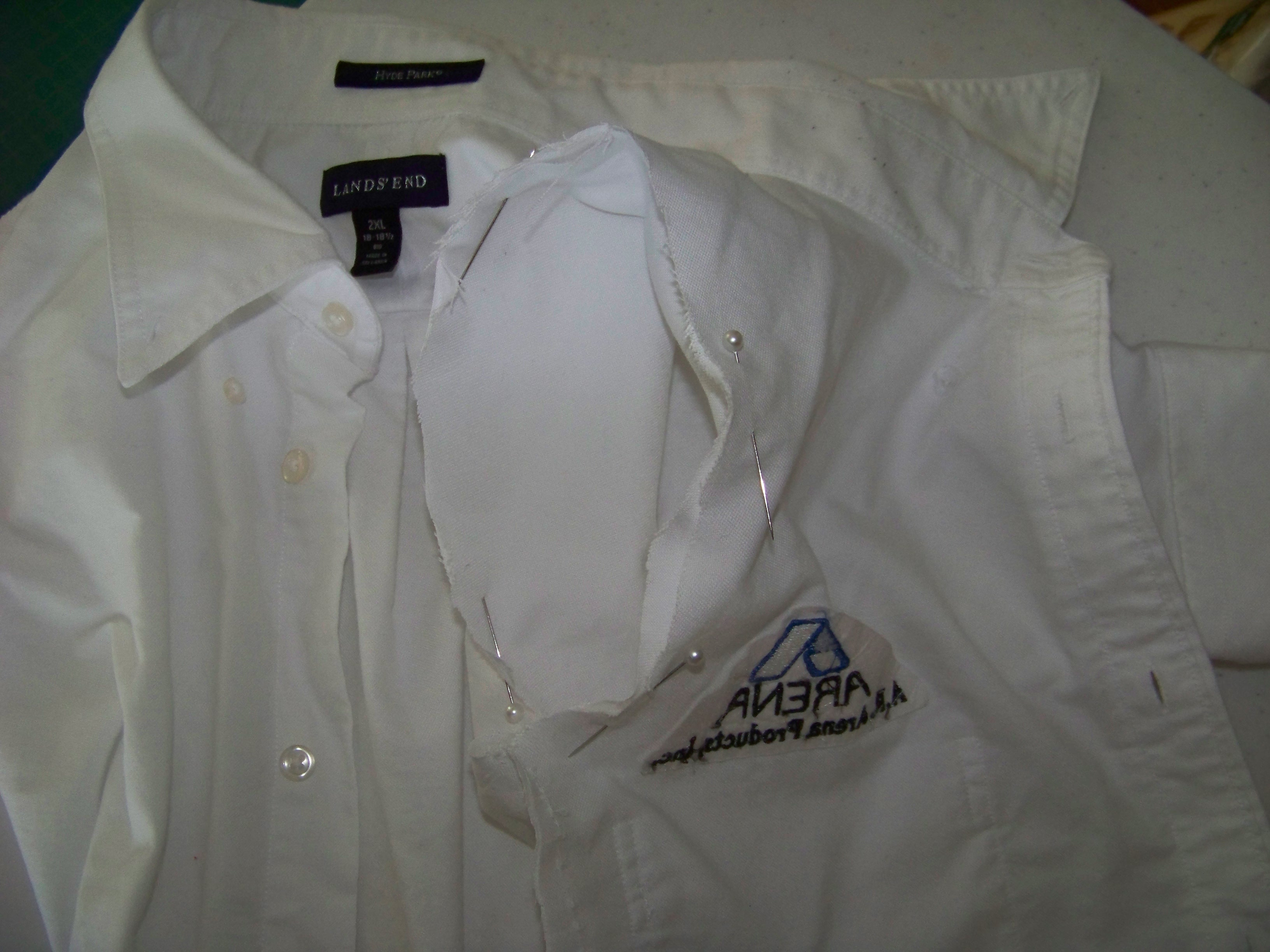 Tutorial how to make a childs lab coat parenting with crunch step 6 hem the coat jeuxipadfo Gallery